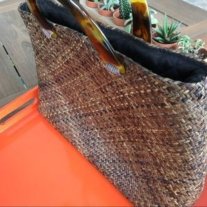 GAIL DELOACH ASIAPHILE LOS ANGELES STRAW BAG,brown